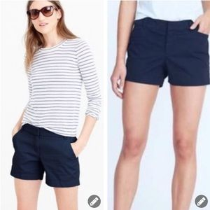 "NWT! J. Crew Dark Navy Blue 4.5"" Chino Shorts"
